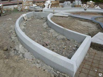 Установка садового / дорожного бордюра
