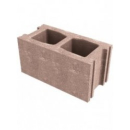 Бетонный стеновой пустотелый блок 390х190х190 мм