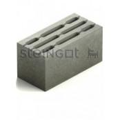Блок бетонный КСР-ПР-ПС-39-75-F100-1600 390х190х188 мм.