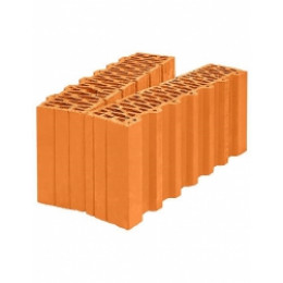 Блок керамический поризованный Porotherm 44 1/2, доборный элемент, M100 12.35 НФ