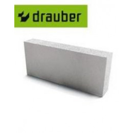 Блок перегородочный газосиликатный Drauber Д500 600х250х100