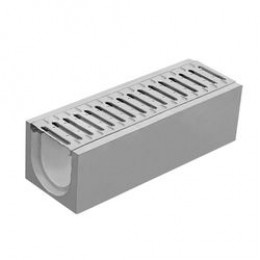 Водосток 500x263x255 глубокий с решеткой серый