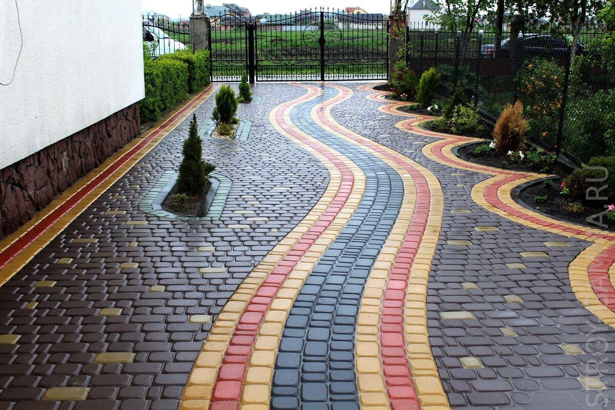 Укладка тротуарной плитки на даче: как положить по технологии | 800x1200